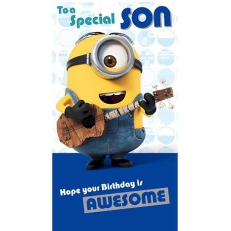Special Son Minions Geburtstagskarte