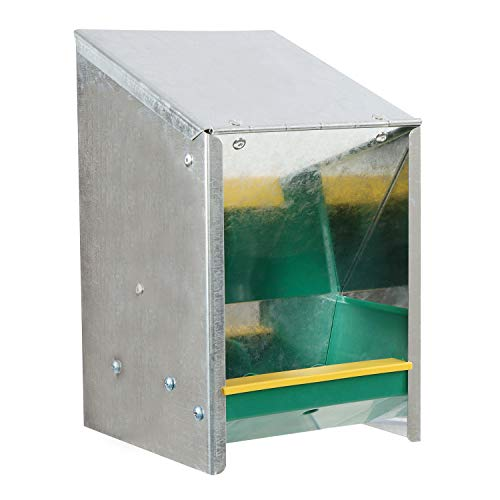 Rural365 Automatic Chicken Feeder System - 5.5 lb. Capacity Galvanized Feeder Metal Trough for Poultry and Rabbits