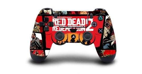 Homie Store Red Dead Redemption 2 PS4 Skin Sticker Decal Vinyl for Sony PS4 Playstation 4 Dualshock 4 Controller Skin Stickers - A3 QBTM1048