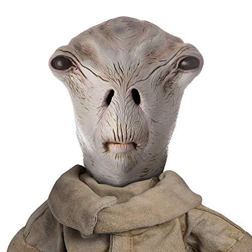 AQKILO Alien Mask, Area 51 Full Head Realistic Masks Fancy Dress Costume for Halloween Party Carnival,Latex Head Mask Gray