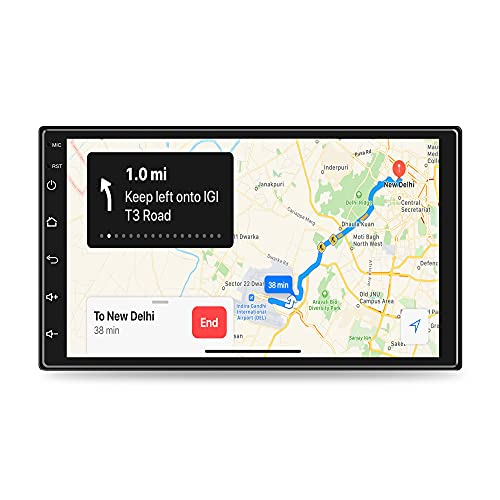 GoMechanic Premium 7 Inch Full HD 1080 Touch Screen Android 9.1, Ultra IPS Display, Car Multimedia Player with 1GB RAM/16GB ROM/Bluetooth/WiFi/HiFi Audio - Supports iOS and Android