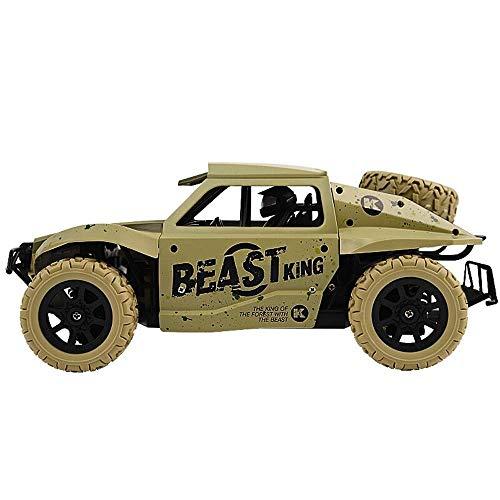 Coche de control remoto, Mini automóvil de control remoto oficial con luces de trabajo - Vehículo Terrain Monster Trucks 1:24 Radio eléctrico controlado fuera de carretera Crawler RC CAR - Batería Ope
