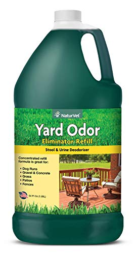 Price comparison product image NaturVet - Yard Odor Eliminator - Eliminate Stool and Urine Odors from Lawn and Yard - Designed For Use on Grass,  Plants,  Patios,  Gravel,  Concrete & More - 64 oz Refill