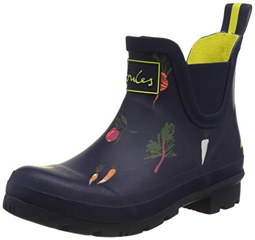 Joules Women's Rainboots Rain Boot, Navy Vegetable, 9