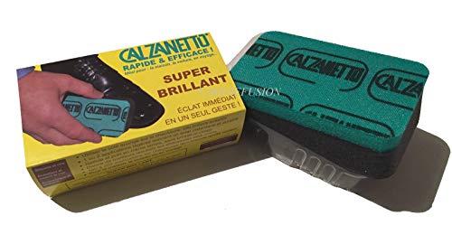 Calzanetto - Spugna autolucidante per scarpe, effetto super lucidante, 4 pezzi