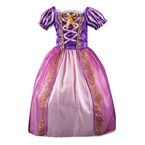 Haoheyou 2020 Nuevo Disfraces De Princesa Rapunzel para NiñAs Vestidos De Princesa para NiñAs Vestido De Fiesta Elegante Cosplay Carnaval Fiesta Disfraz Disfraces (2-3 años, Púrpura)