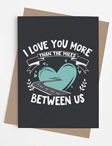 Long Distance Card for boyfriend, girlfriend, wife, husband. | Original card with envelope for long distance relationship or friendship | Unique present for someone who is going away