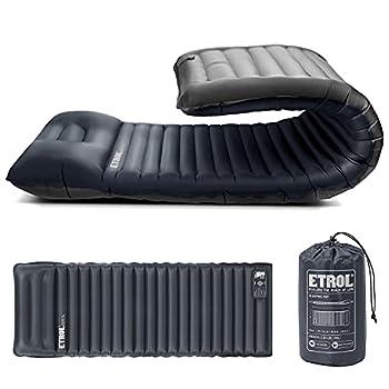 ETROL Matelas de Camping - Matelas Gonflable avec oreillers (78