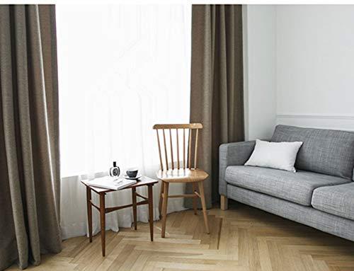 HSMM Rideaux,Rideaux occultants,Parasol Moustique Rideaux Monochrome,Chambre Doux Salon Coton Lin-E 150x250cm(59x98inch)