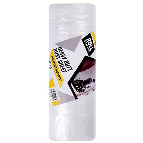 ZUVO Große Qualitäts Staubschutzfolie, transparent und 10 Mikron Schutzabdeckung für Möbel zum Bemalen und Dekorieren von Haus oder Büro, geeignet für Möbelabdeckung auf Malerei (2m x 50m)