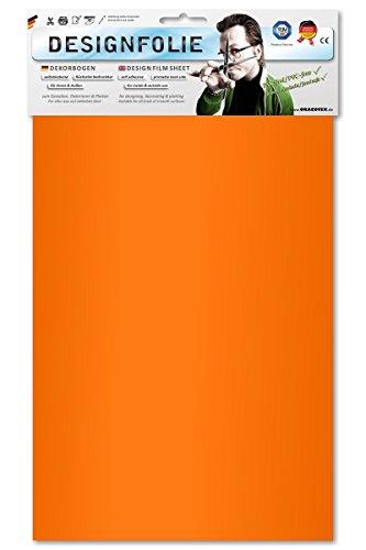 EASYPLOT 50-065-B - Designfolie, Circa A4, fluoreszierend signalorange