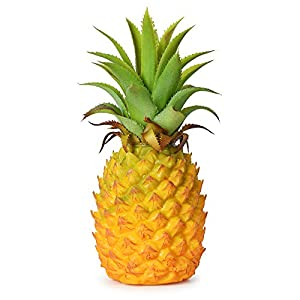 Lvydec Artificial Pineapple, Realistic Artificial Fruit Fake Pineapple for Home Cabinet Table Party Decoration (8.2″)