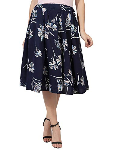 HIYA - HERE IS YOUR AFFINITY Women's Crepe Fabric Skirts Inner Belt...