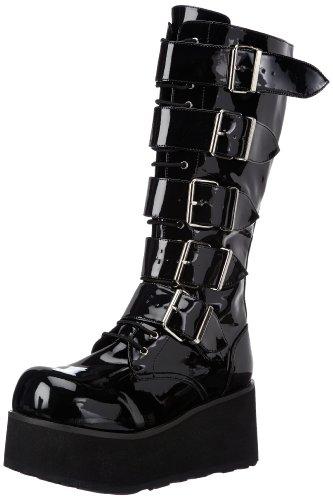 Demonia by Pleaser Men's Trashville-518 Goth Boot,Black Patent,12 M US