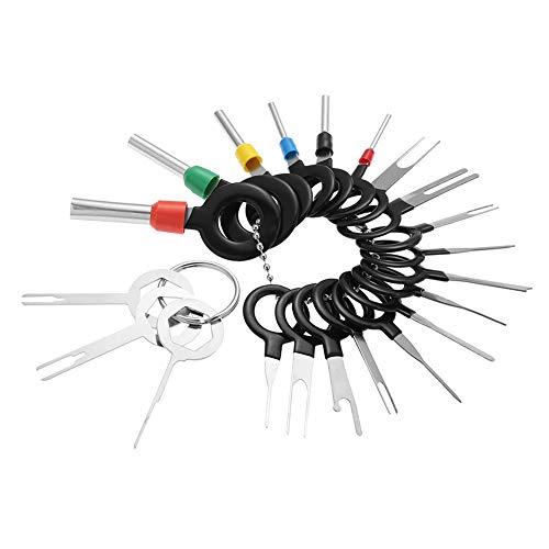 upain Entriegelungswerkzeug Set kfz Stecker Auspinwerkzeug 21 Stück Auto Pin Extractor Tool Car Terminal Removal Tool für Flach und Rundsteckkontakte