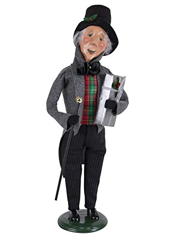 Byers' Choice Happy Scrooge Caroler Figurine from A Christmas Carol Collection #2125