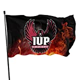 Kisdrop 3x5 Flag Indiana University of Pennsylvania Crimson. Indoor/Outdoor Banners Decorative Polyester Flag Home Garden Flag