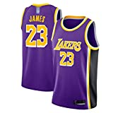 Angel ZYJ Lebron James Trikot, NO.23 Retro Lakers, Basketballspieler-Trikot, Atmungsaktive Und...
