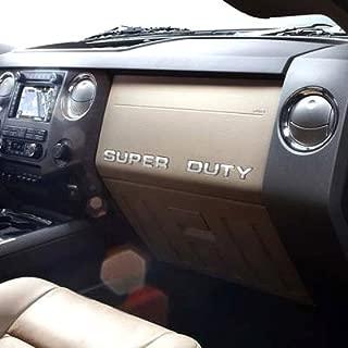Eurosport Daytona Super Duty Chrome Dashboard Lettering Insert Kit Compatible for Ford
