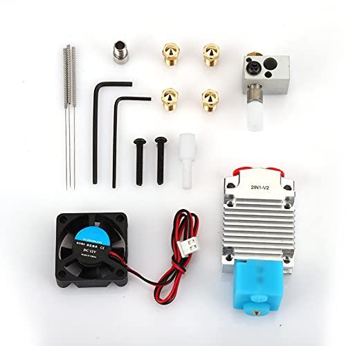 Redxiao Exquisito Conjunto de Extremo Caliente para extrusora pequeña, Accesorios de Impresora 3D con Funda de Silicona para Bloque de Calentamiento(12V)