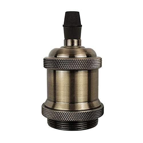 Vintage E27 Edison Lampenfassung Keramik Lampenfassung Industrie Retro Edison Lampenhalter Adapter für DIY Decken Hängeleuchte (Bronze)