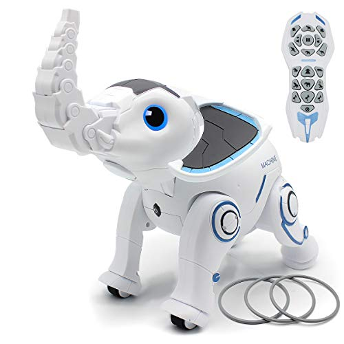Mostop Robot Toys Remote Control Robotic Elephant RC Programming Interactive Robot Voice Control Intelligent Electronic Toys Walking Dancing for Boys Girls Age 6, 7, 8, 9, 10 and Up Year Old