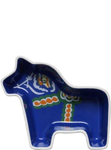 Sagaform 5016532 Plat en céramique, 16 x 14 x 4,50 cm, Bleu/Blanc/Multicolore