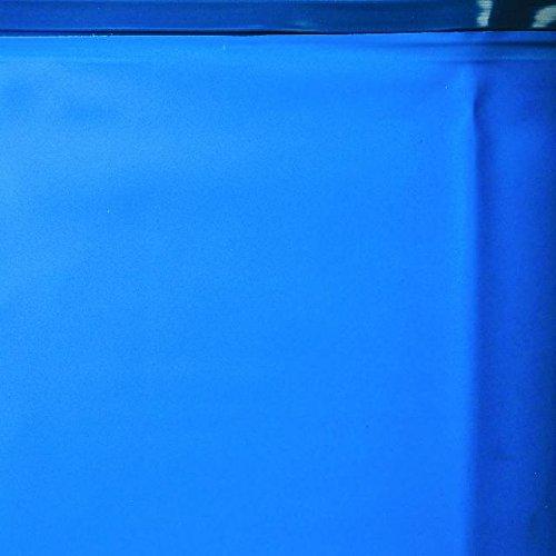 Gre KITPROV503W KITPROV503W-Piscina Acero aspecto Madera Sicilia 3,8 m3/h 500 x 300 x 120 cm 2x3 peldaños, 13177 liters L, Blue, Wood