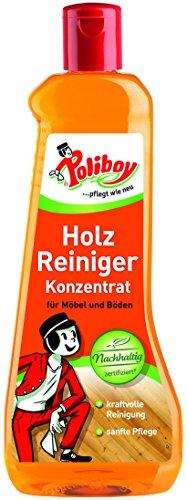 Poliboy - Holz Reiniger Konzentrat - für alle abwaschbaren Hölzer - kraftvolle Reinigung und sanfte Pflege - Einzeln - 500 ml - Made in Germany