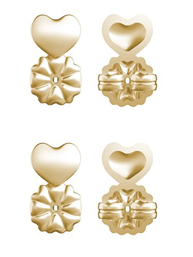 Allstar Innovations MagicBax Deluxe | Earring Backs, Hypoallergenic, Fits all Post Earrings, As Seen on TV (2 Pairs 24K Gold Plated)