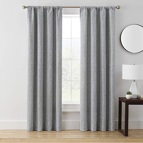 "63""x50"" Troy Room Darkening Window Curtain Panel Gray - Brookstone"