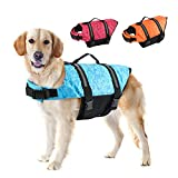 EMUST Dog Life Preserver, Dog Flotation Vest for Swimming, Beach Boating with High Buoyancy, Dog Flotation Vest for Small/Medium/Large Dogs, Blue Bones, M