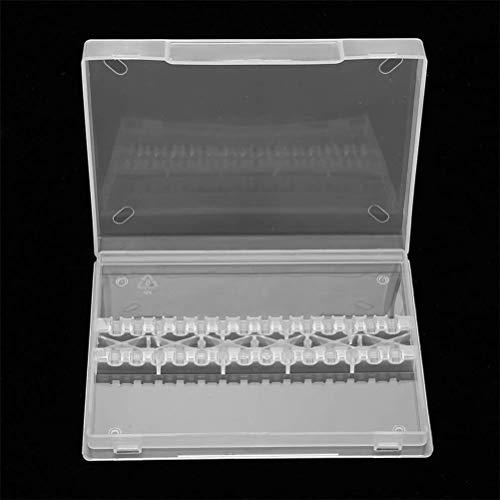 Joli Nail Drill Bit Box Empty, Nail Drill Bit Case Holder Manicure Tool Organizer Displayer Stand (Transparent)