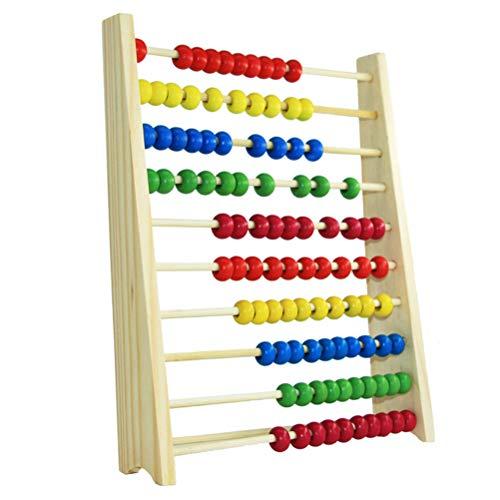 SHARRA Abacus Regla de cálculo de Madera Aprendizaje de matemáticas Abacus Juegos de matemáticas para niños Habilidades motoras Juguetes educativos Marco de conteo Regalo para niños o niñas