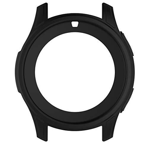 AWADUO Für Samsung Galaxy Watch 46mm Silikon Schutzhülle Hülle, Smartwatch Schutzhülle Für Samsung Galaxy Watch Smartwatch 46mm/ Samsung Gear S3 Frontier SM-R760, weich und robust(Silikon Schwarz)