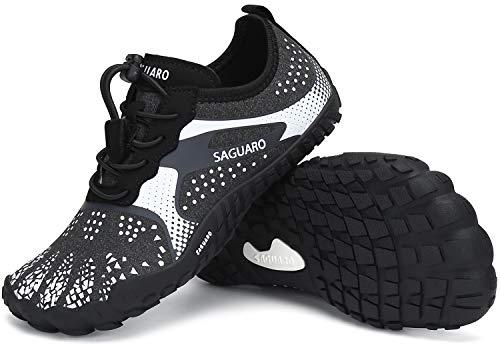 SAGUARO Zapatos de Agua Niños Escarpines Surf Niñas Calzado Descalzos para Fitness Zapatos de Playa Verano Minimalistas Zapatos de Deporte Blanco Gr.26