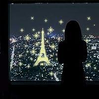 1st market パリのタワーウォールステッカーの背景が大好きな創造的で便利な3D蛍光発光星
