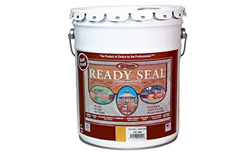 Ready Seal 505 Exterior Wood Stain and Sealer, 5-Gallon, Natural / Light Oak