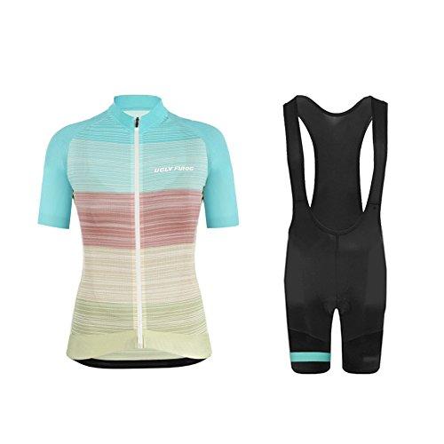 Uglyfrog2018 Neuen Lady Kurzarm Fahrrad Breathable Sommer Damen Fahrradtrikot Outdoor Sports Wear Triathon Rikots & Shirts+Bib Kurze Hosen Sets