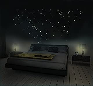 Cielo estrellado con 281 estrellas - pegatina de pared fluorescente, brilla en la oscuridad