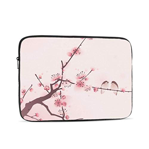 Oriental Style Painting Cherry Blossom Spring Pattern 15 Inch to 15.6 Inch Laptop Sleeve Carrying Case Neoprene Sleeve for Acer/asus/dell/Lenovo/MacBook Pro/hp/Samsung/Sony/Toshiba