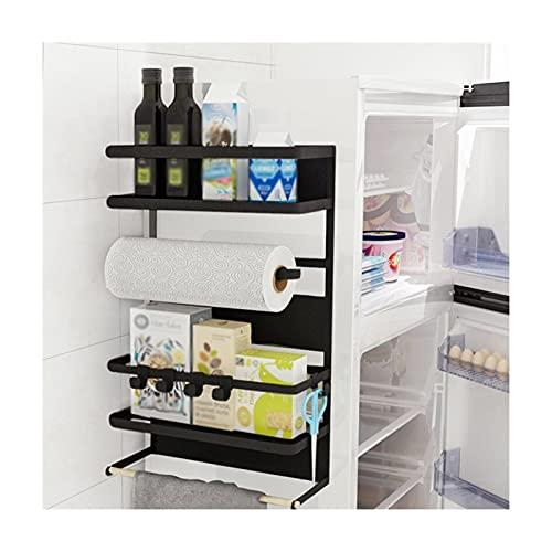 HJYDZ Organizzatore A Parete, Scaffale per Frigorifero Black Plastic Wrap Stagionatura Rack Durable Storage Display Shelf Grande capacità Salva Lo Spazio