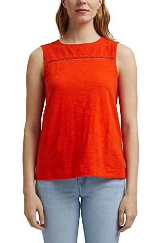 Esprit 041EE1K355 Camiseta, 635/Orange Red, S para Mujer