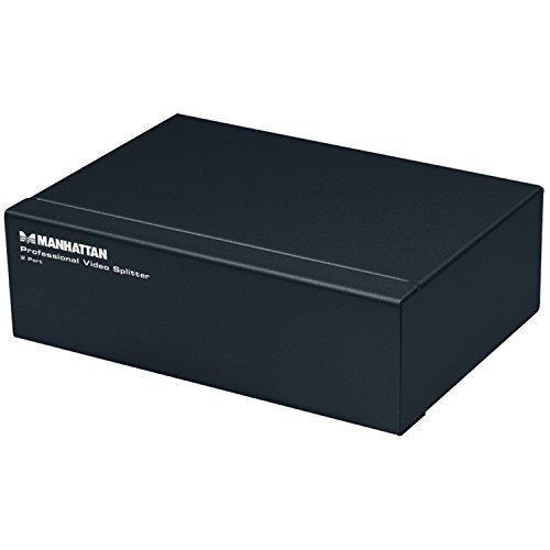 MANHATTAN HDMI-splitter HDMI Video Splitter 2-poort (VGA) 350 MHz zwart
