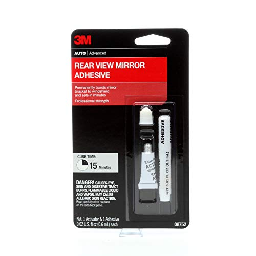 3M Rearview Mirror Adhesive, 08752, 0.02 fl oz
