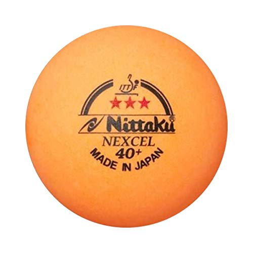 NITTAKU 3 Balls NEXCEL (Made in Japan), 40+ Orange 3 Stars Table...
