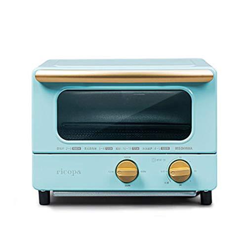 House machine klein Multi-Function, toast koken, gebak, vis, enz, Om uw zoektocht Eten 1000W Mini Oven 10L beantwoorden,Blue