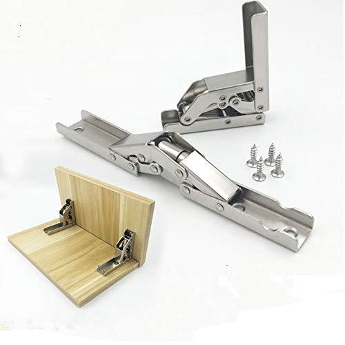 2 piezas engrosado soporte de bisagra plegable de 90 grados soporte oculto conexión de muebles bisagra marco de mesa accesorios de muebles
