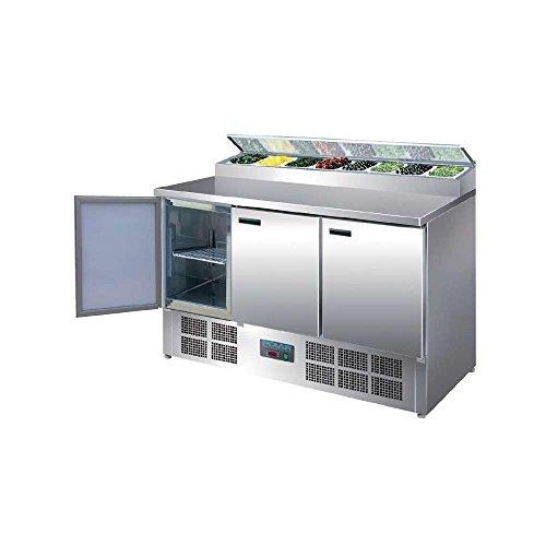 Polar - Mostrador refrigerado para preparación de pizza y ensaladas con pantalla - 390L - Frigorífico comercial