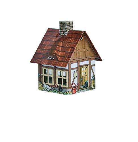 Crottendorfer Räucherhaus Metall Häuser Räucherkerzenhalter - Verschiedene Designs (Bauernhaus)